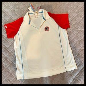 🦋 3/$15 TEHAMA Pinehurst U.S. Open Golf Shirt NWT